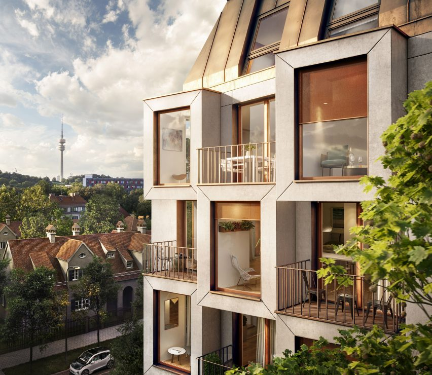 Apartments have views out to surrounding urban context