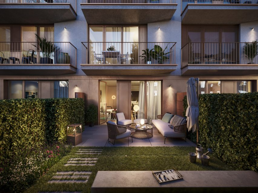 Ground floor apartments with garden space