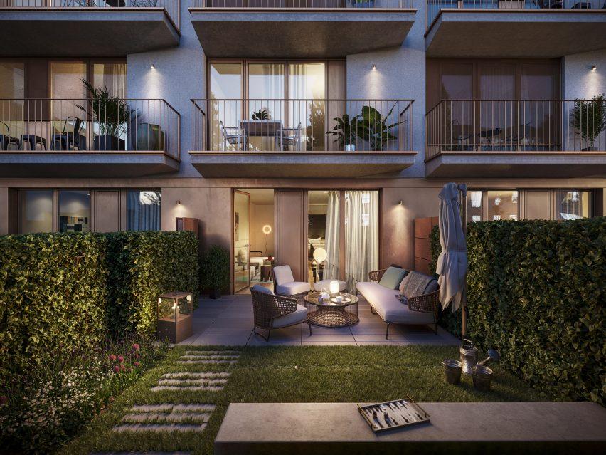 Ground floor apartments with garden space