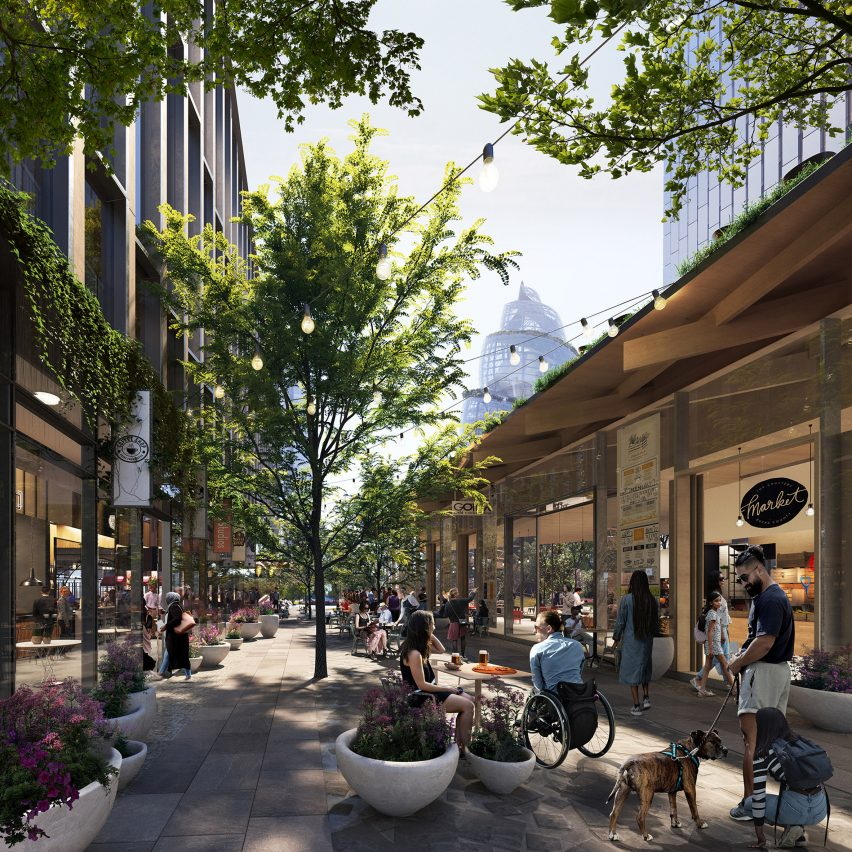 Retail area of Amazon HQ2 by NBBJ