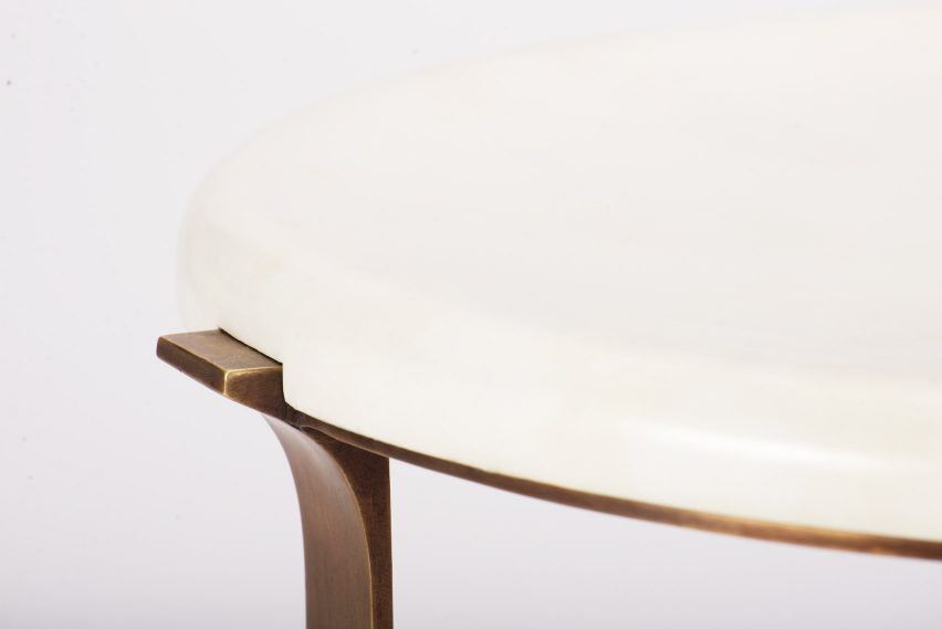 Top of round Arch side table by Elan Atelier