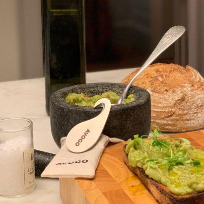 Avogo travel-sized avocado cutter by Pietro Pignatti