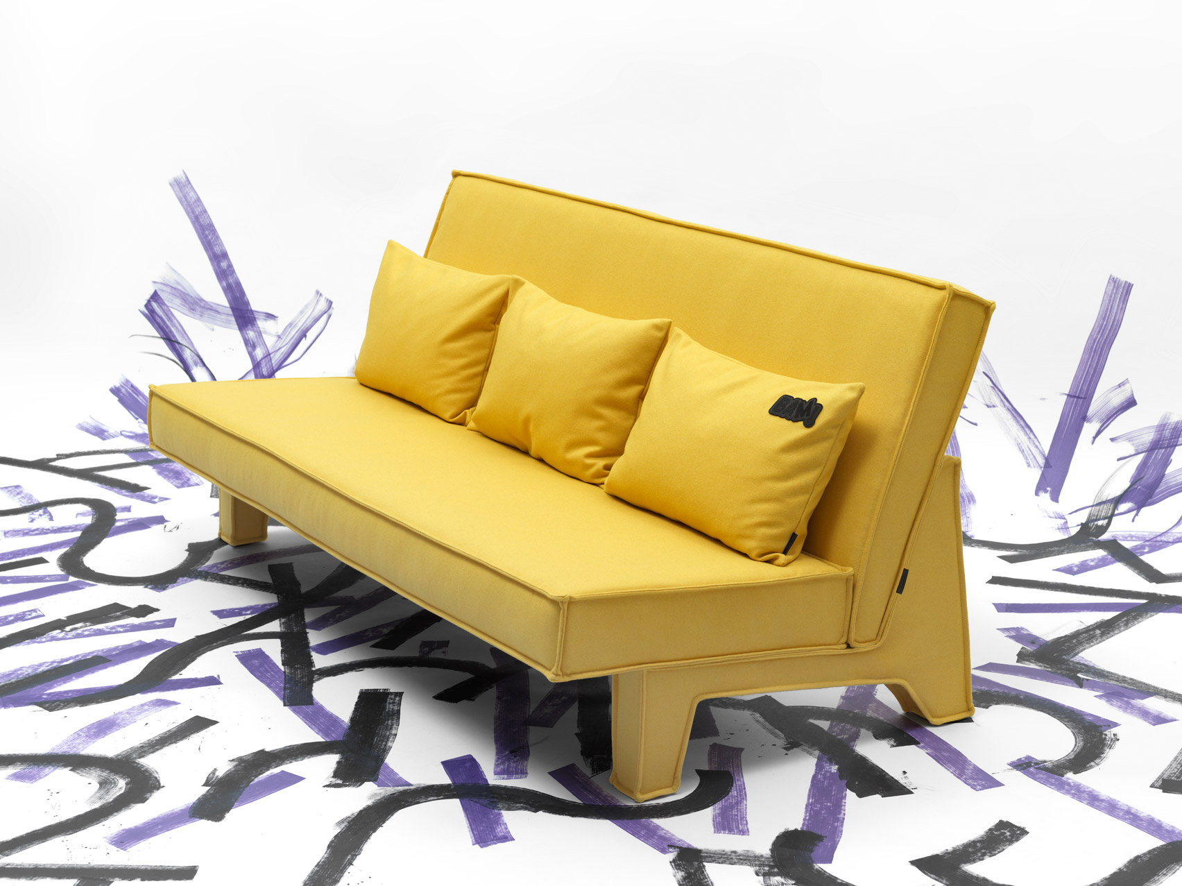 Cushions on BAM! sofa by Massproductions