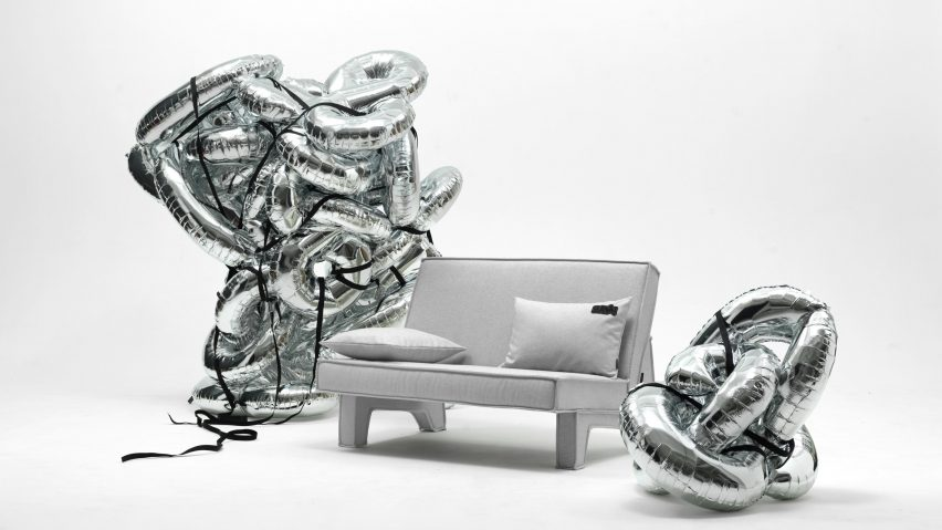 Grey BAM! sofa by Massproductions