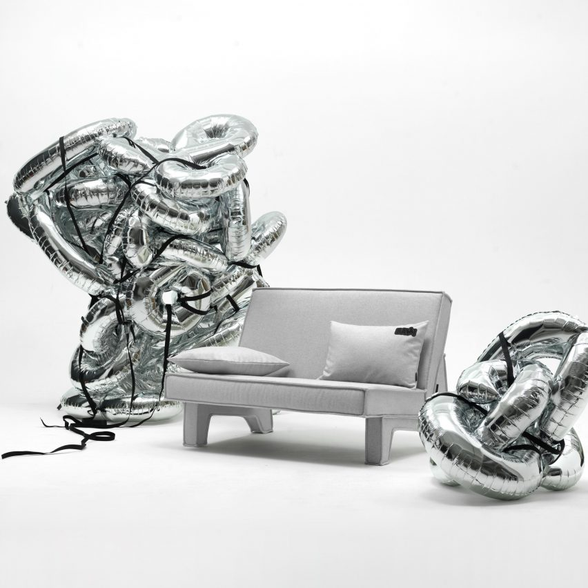 BAM! sofa by Massproductions in grey