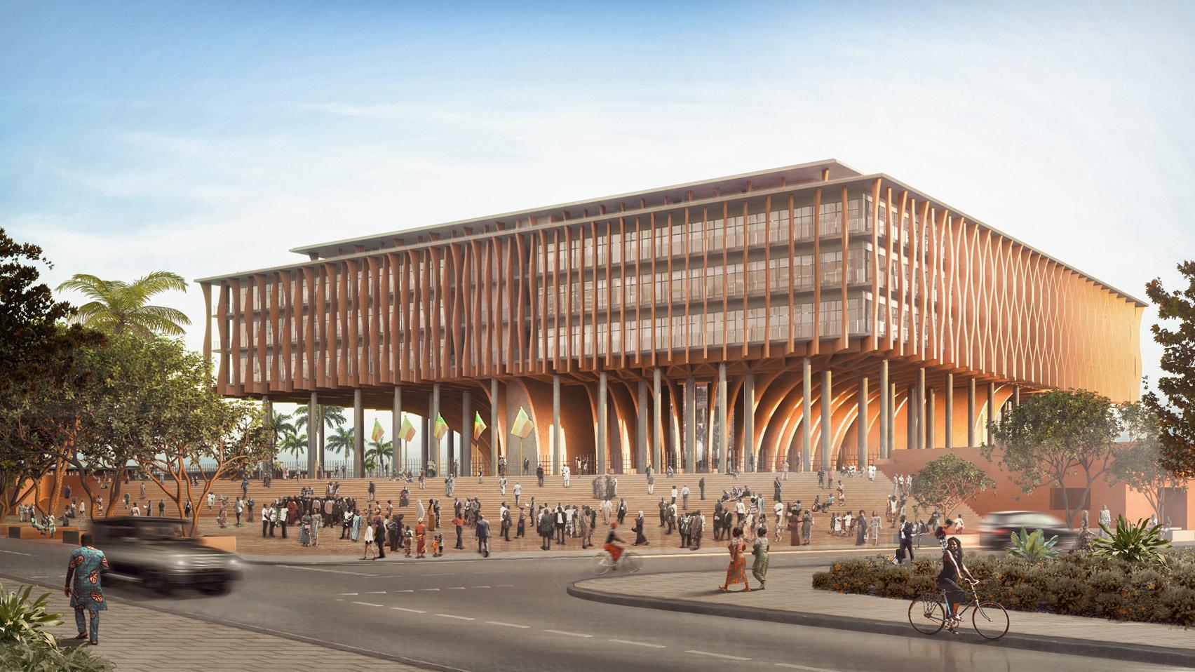 Benin parliament by Kéré Architecture
