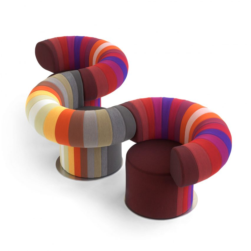 Two lounge chairs by Bla Station