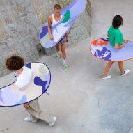 "Anna-Sophie Dienemann creates wearable pop-up ""distance keepers"""