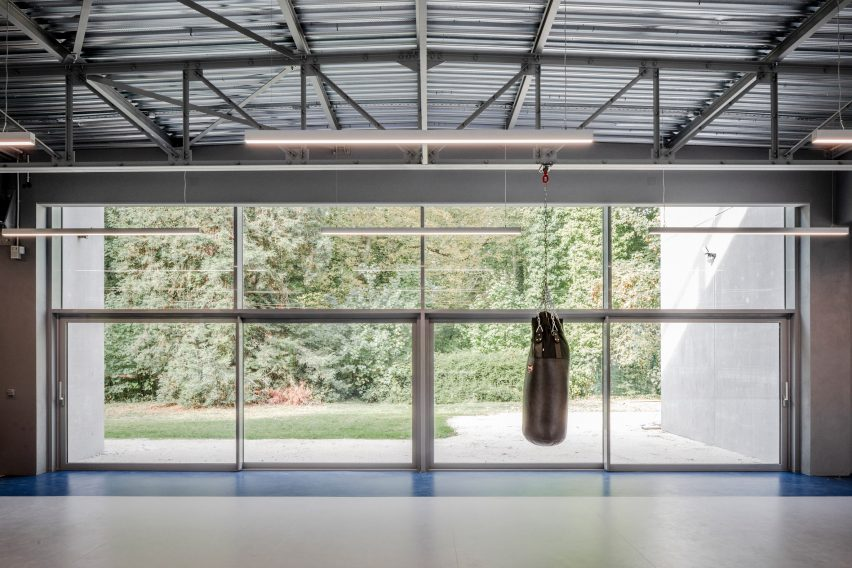 Views out of a boxing club