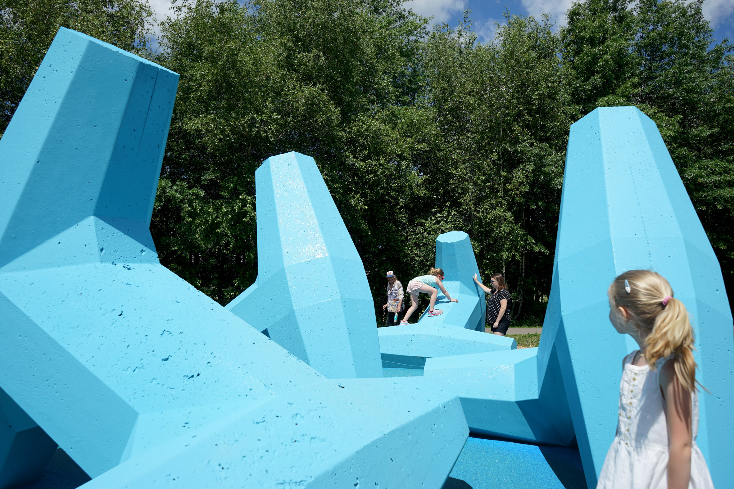 Breakwater is both a sculpture and a playground