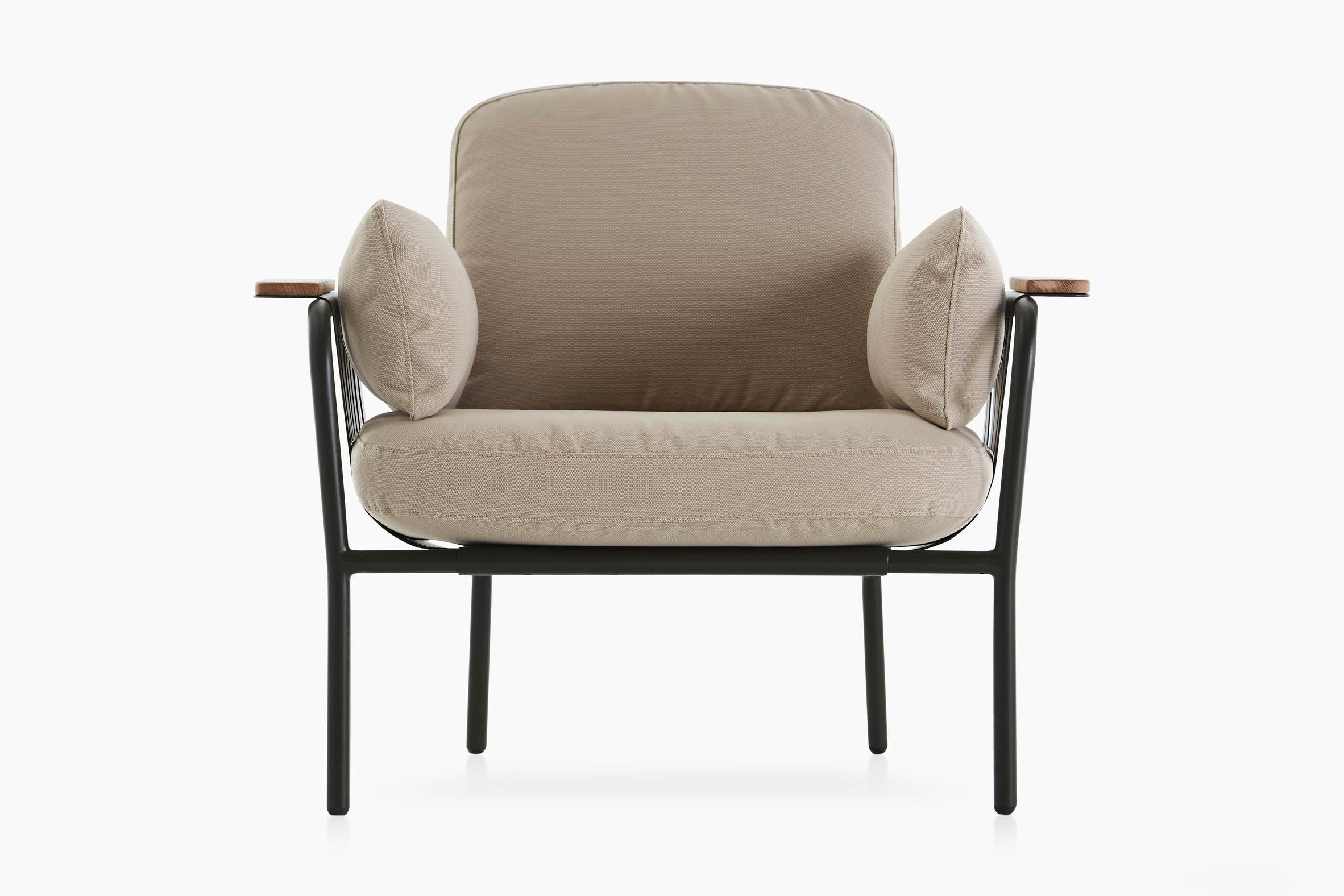 A cushioned outdoor armchair by Søren Rose for Gandiablasco