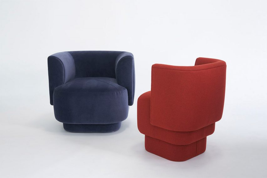 Capper upholstered lounge chairs
