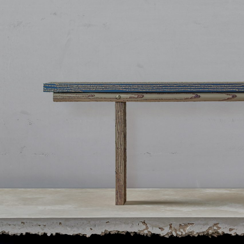 Steel Carbon bench by Ward Wijnant