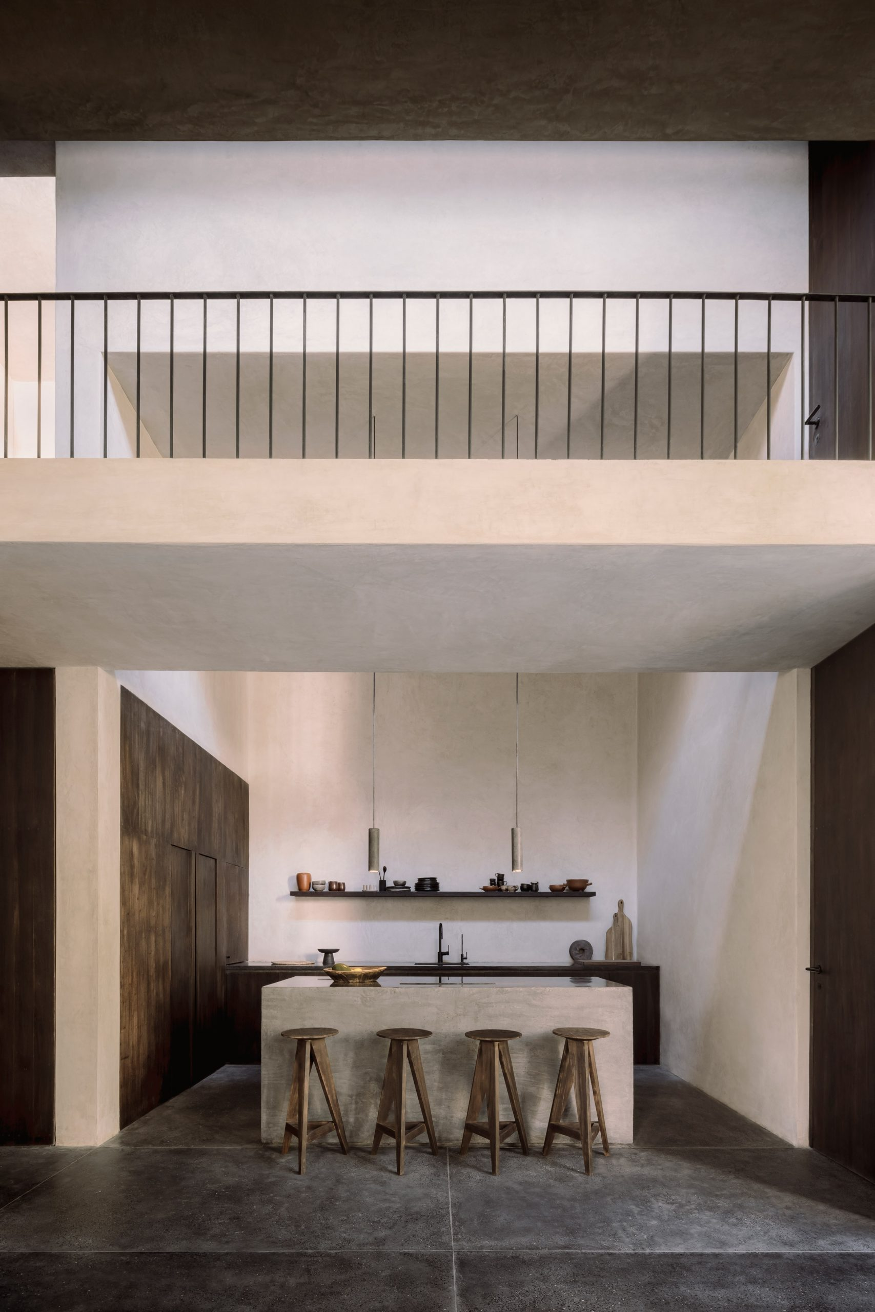 Kitchen and bridge of holiday home in Tulum