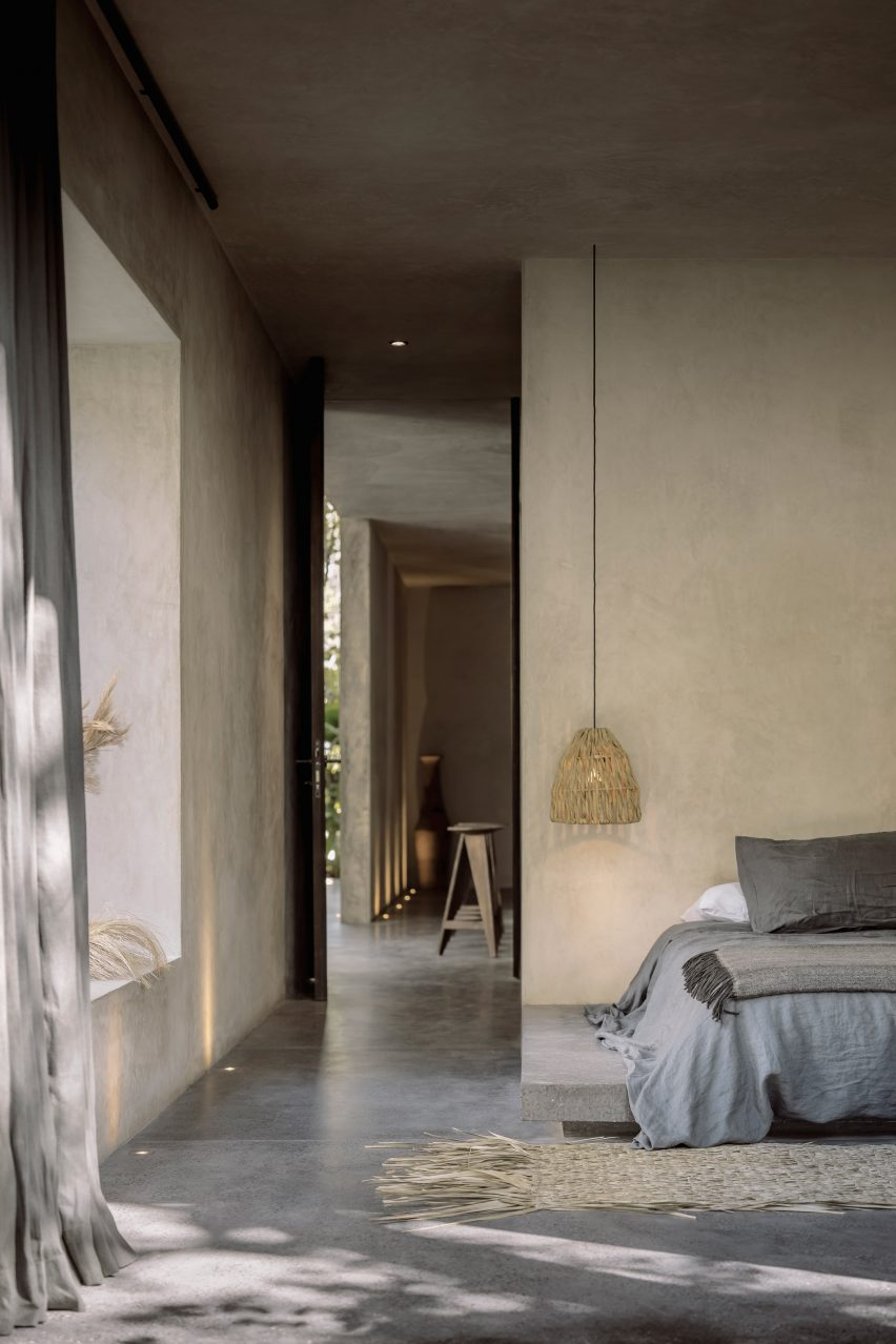 Bedroom of Casa Aviv in Tulum by Co-Lab Design Office