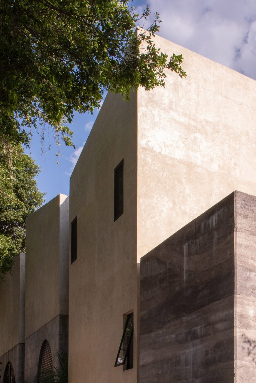 Stucco walls of a house in Mexico