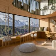 Brazilian designers imagine relaxing interiors for Patagonian eco-lodge