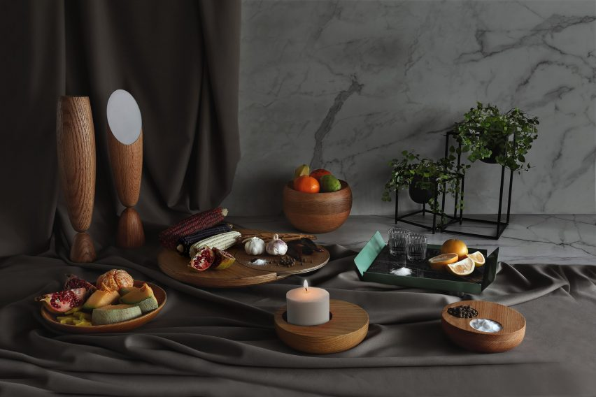A selection of the objects comprised in In the Centre of the Table by Joel Escalona and his students