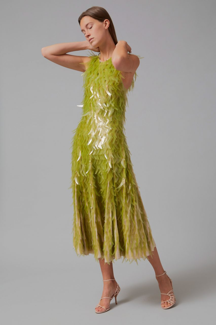 Algae sequins dress by Phillip Lim as part of One X One project