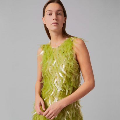 Algae sequin dress by Phillip Lim and Charlotte McCurdy as part of One X One project