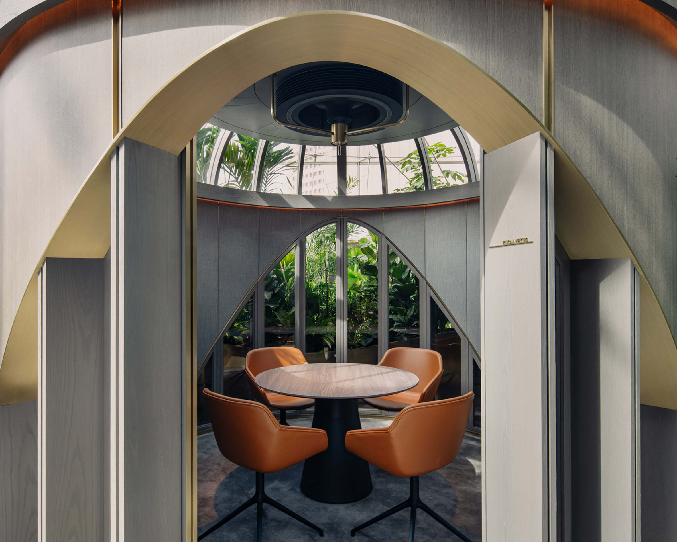 Interior of the garden pods in Citi Wealth Hub by Ministry of Design