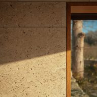 Stone walls and wood framed windows