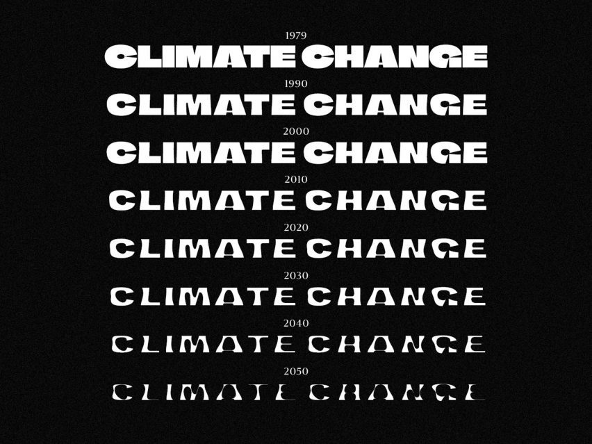 Overview of different Climate Crisis Font weights