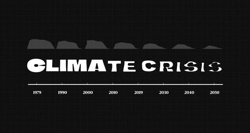 Climate Crisis Font by Helsingin Sanomat in different weights