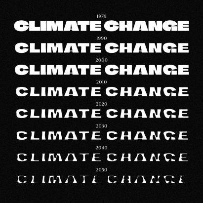 Climate Crisis Font by Helsingin Sanomat