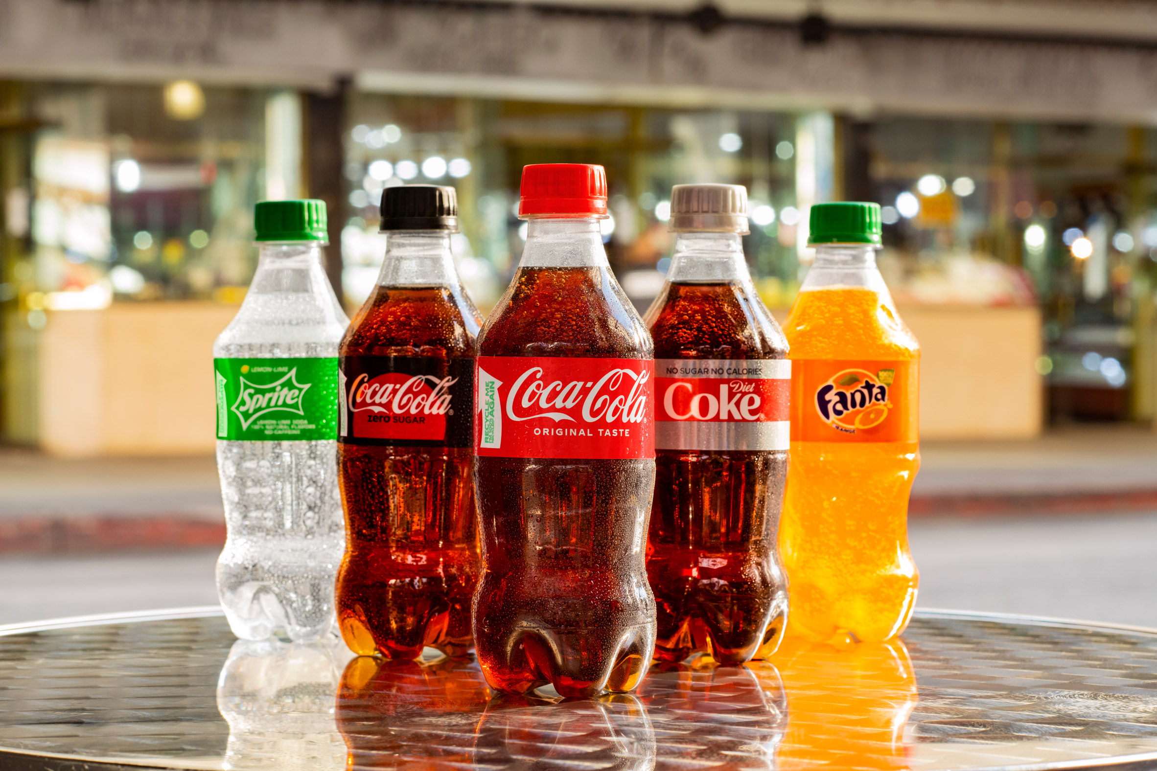 New 12.3 ounce sip-sized rPet bottles for Sprite, Fanta and Coca-Cola