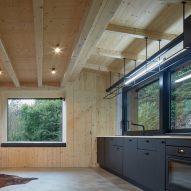 Wood-clad kitchen