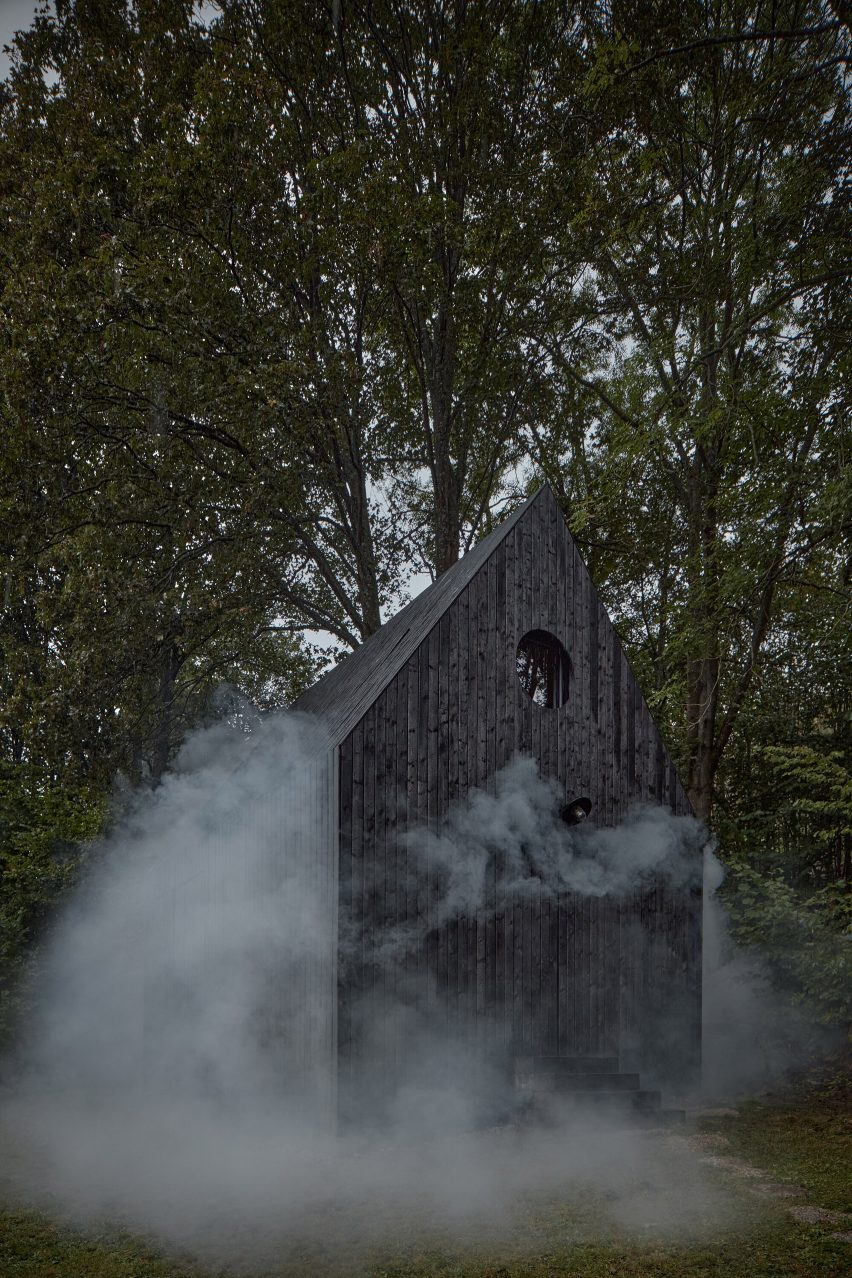 Guest cottage in charred wood