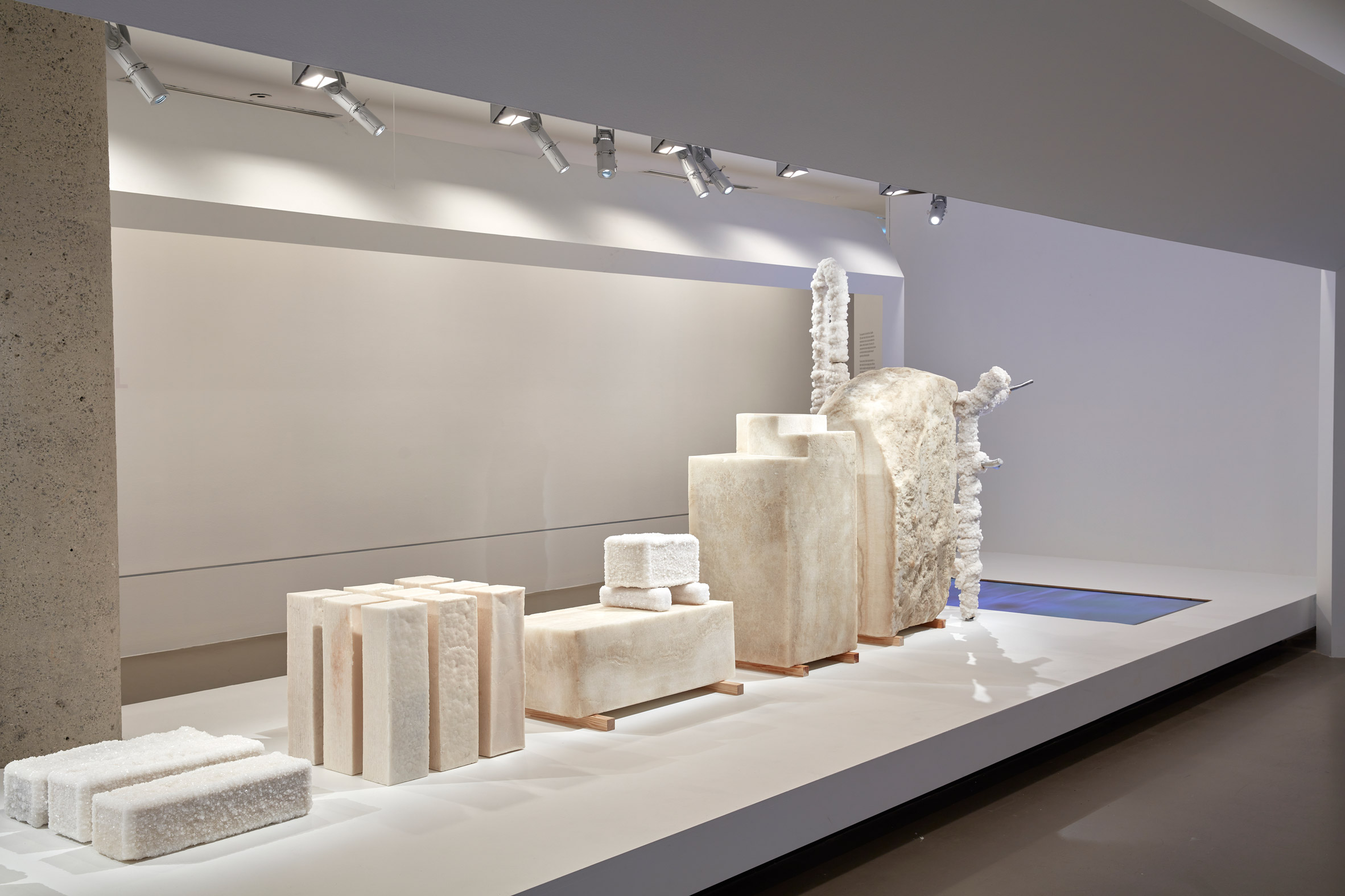 Exhibition of Crystalline salt blocks
