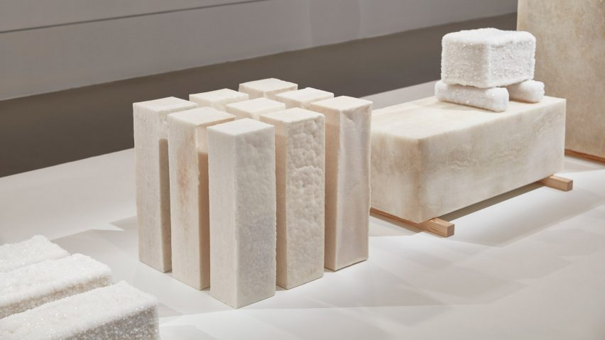 Crystalline salt blocks at NGV