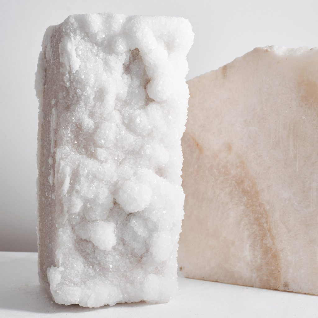 Erez Nevi Pana constructs Crystalline collection from Dead Sea salt