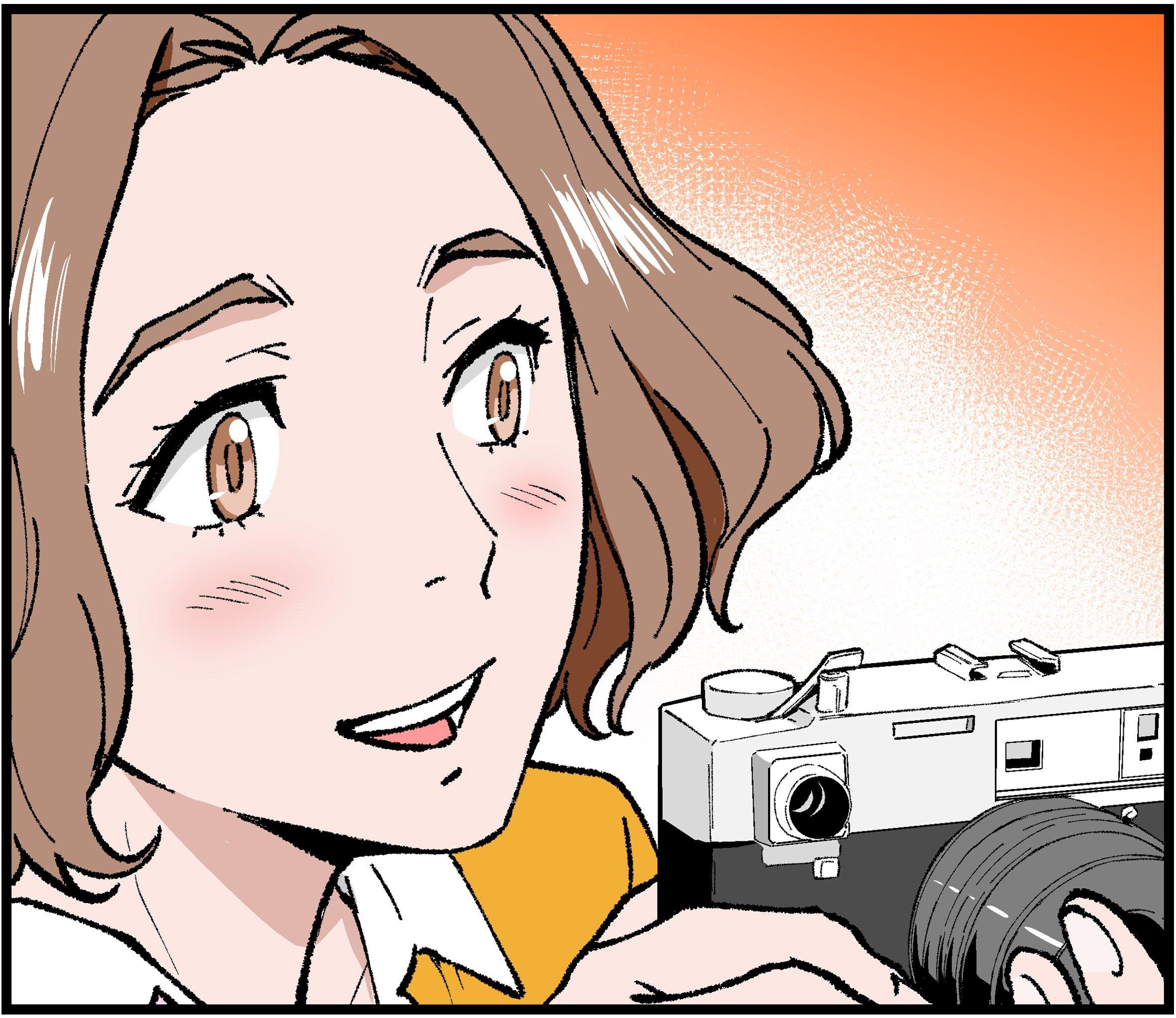 Manga illustration of young Denise Scott Brown