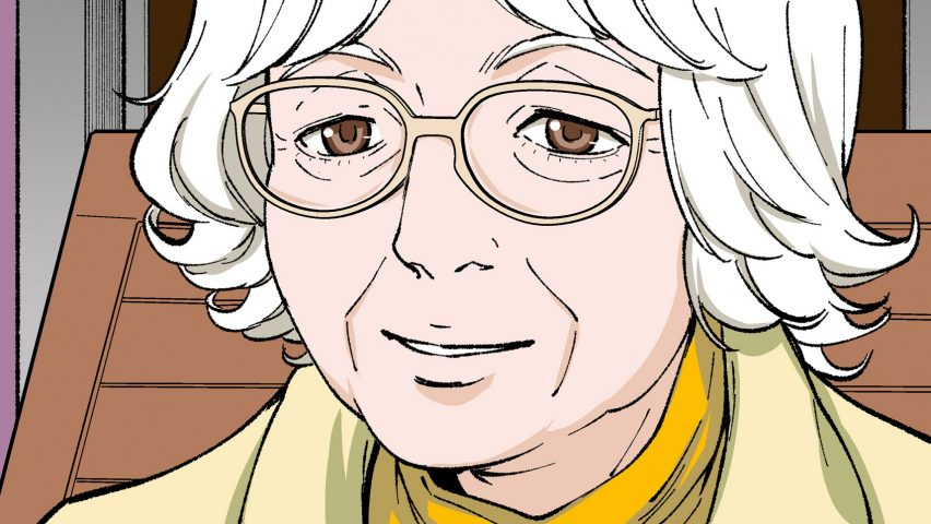 Manga illustration of Denise Scott Brown