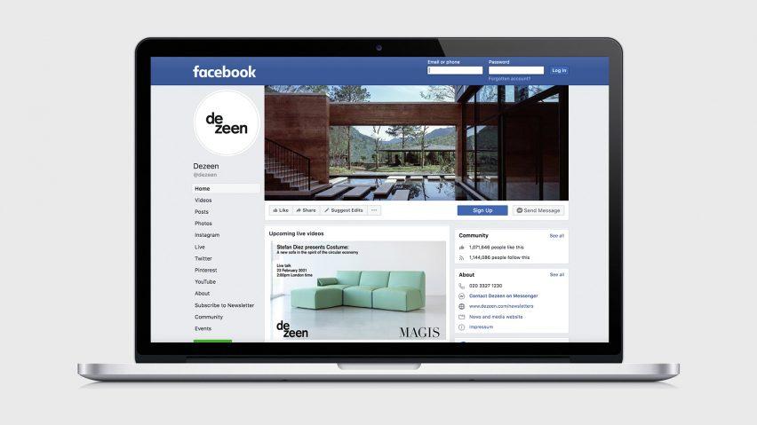 Dezeen Facebook blocked in Australia
