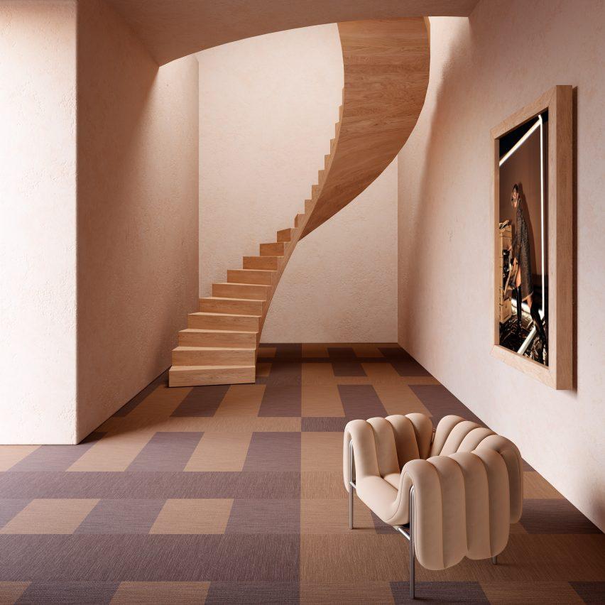 Emerge flooring tiles by Bolon