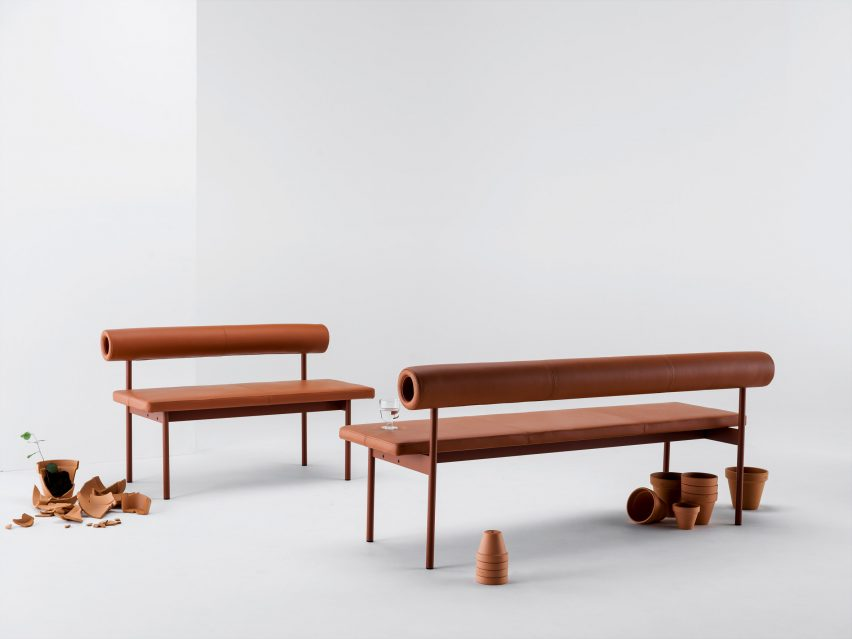 Font seating system sofa