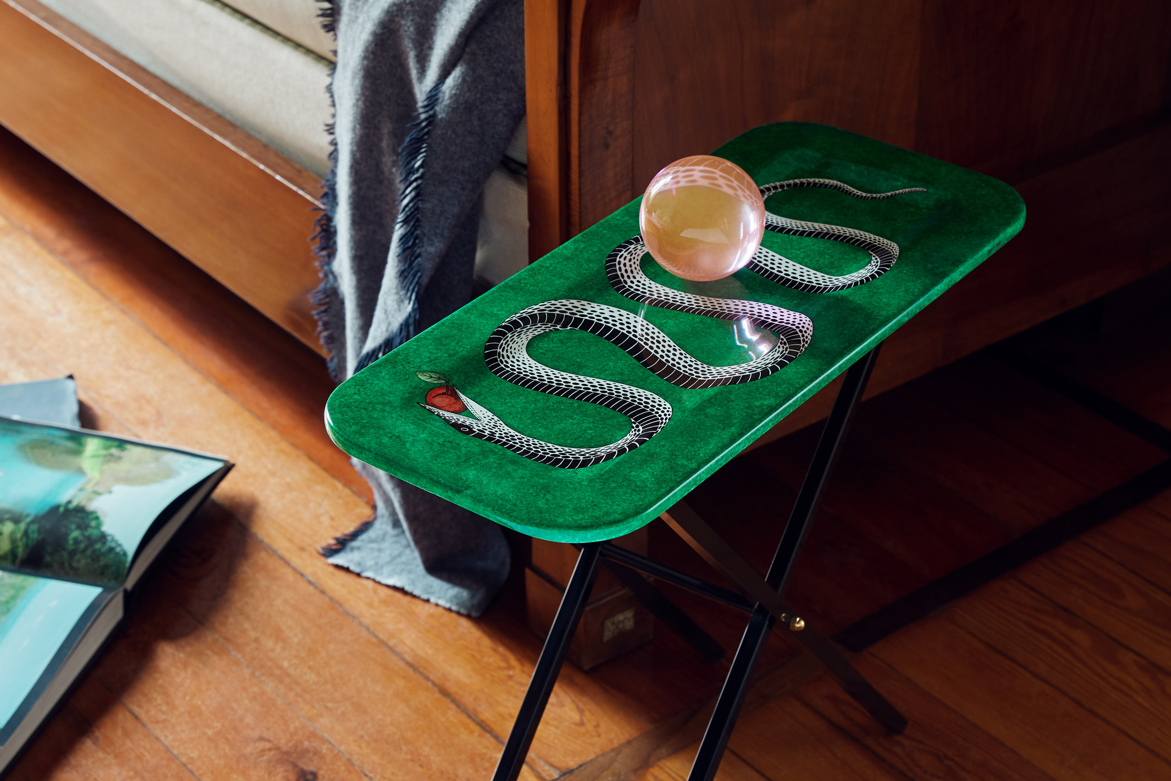 Serpente tray by Fornasetti