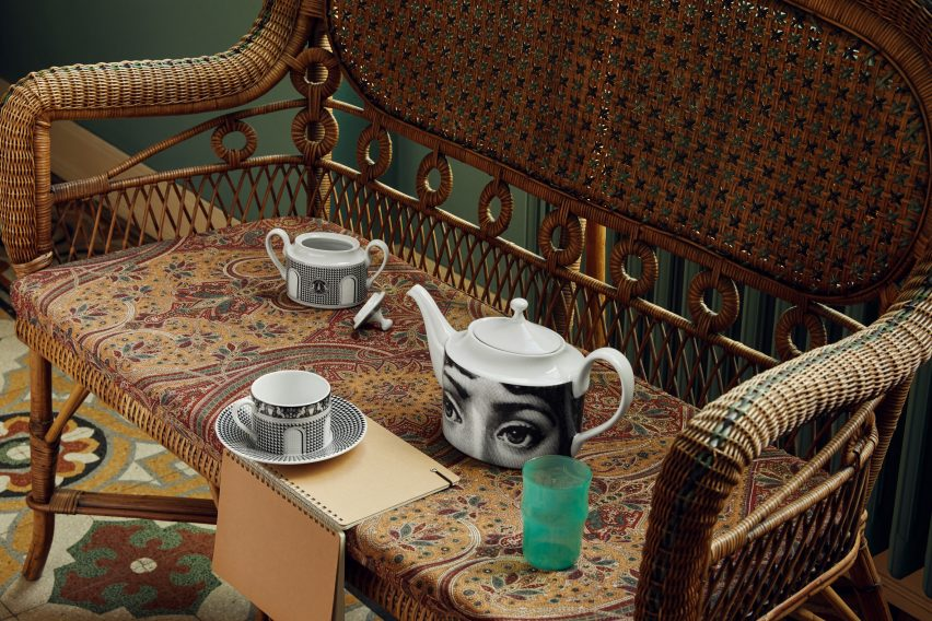 Tea set by Fornasetti