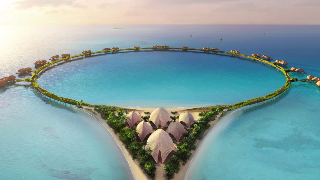 Foster + Partners to create ring-shaped hotel on stilts in Saudi Arabia
