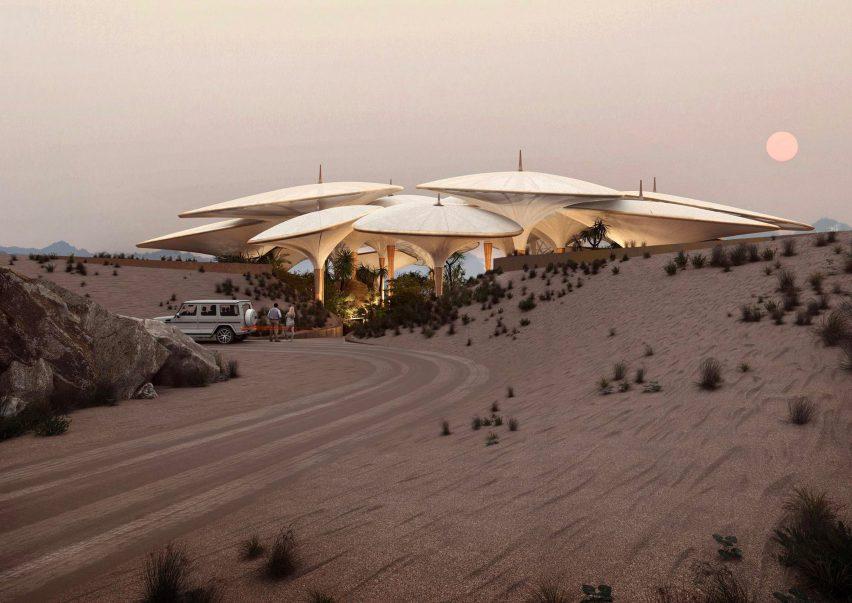 Hotel in Saudi Arabia desert