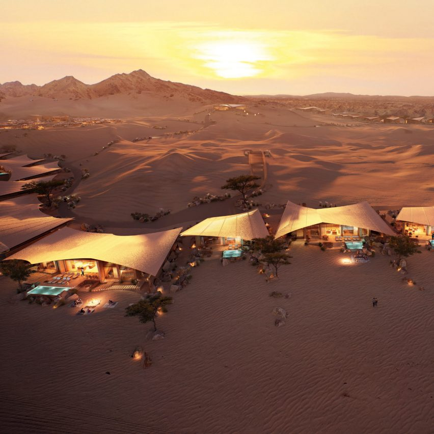This week Foster + Partners revealed a pair of Saudi Arabian hotels