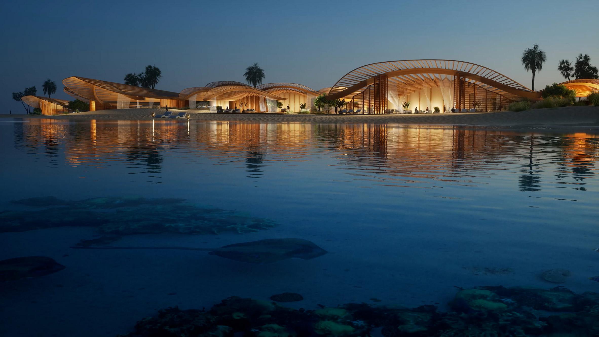 Villa overlooking the Red Sea in Saudi Arabia