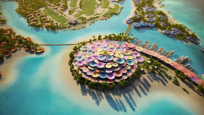 Coral Bloom resort by Foster + Partners in Saudi Arabia
