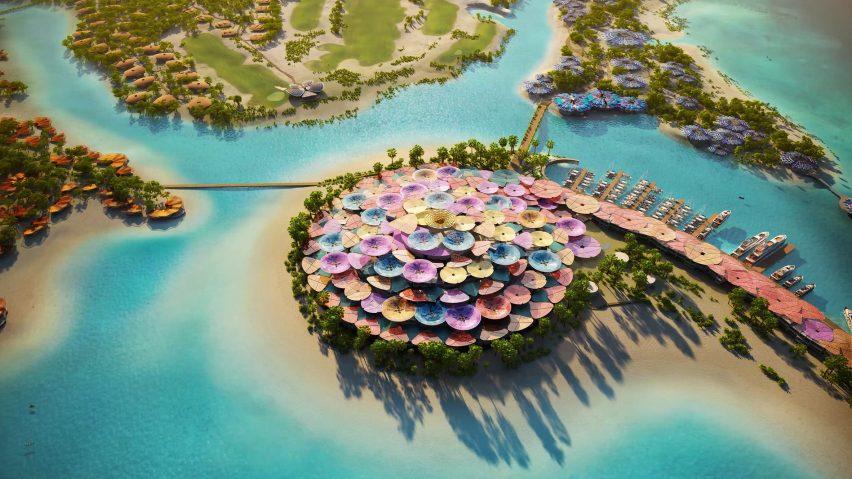 Coral Bloom resort by Foster + Partners in Saudi Arabia