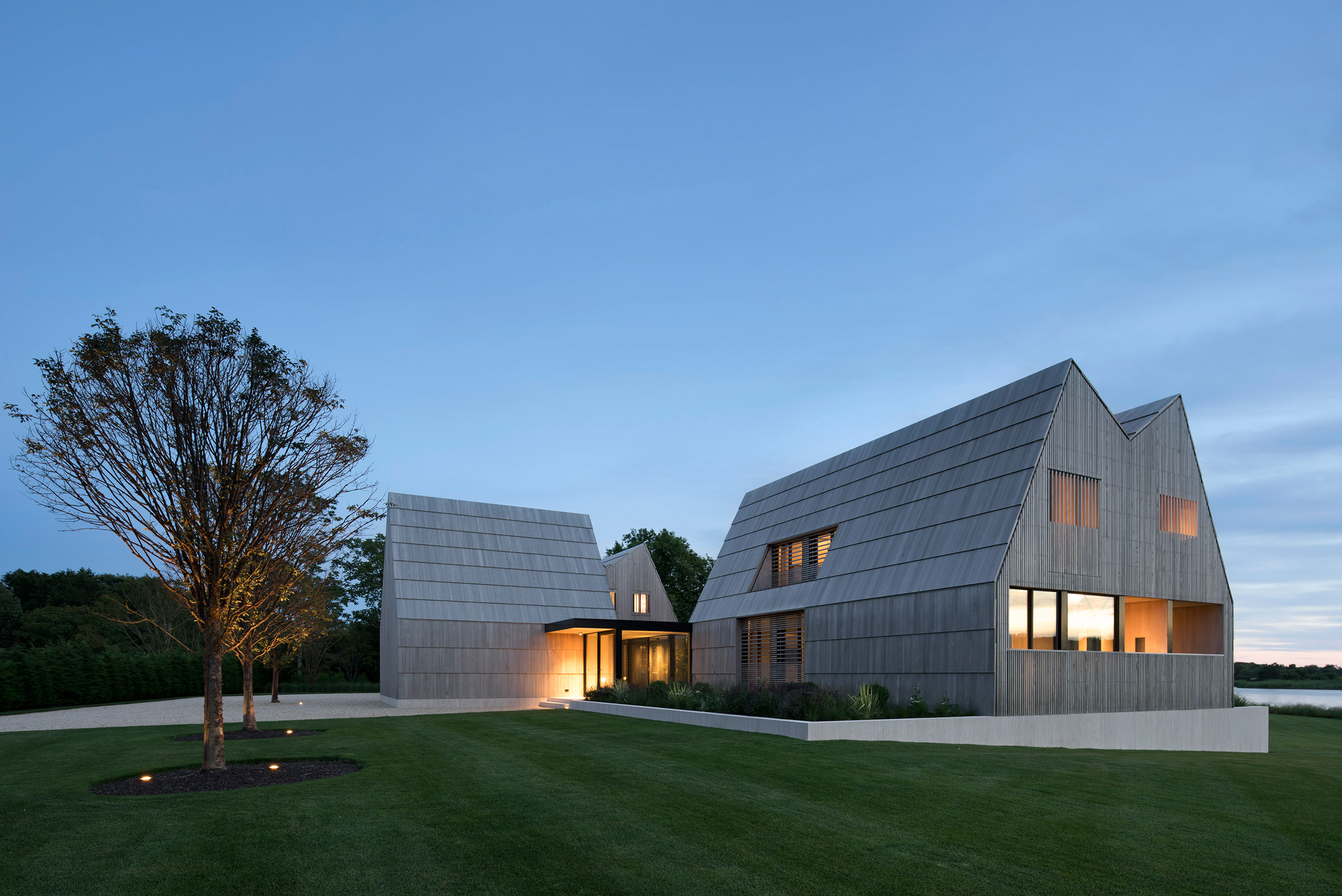 Timber-clad house