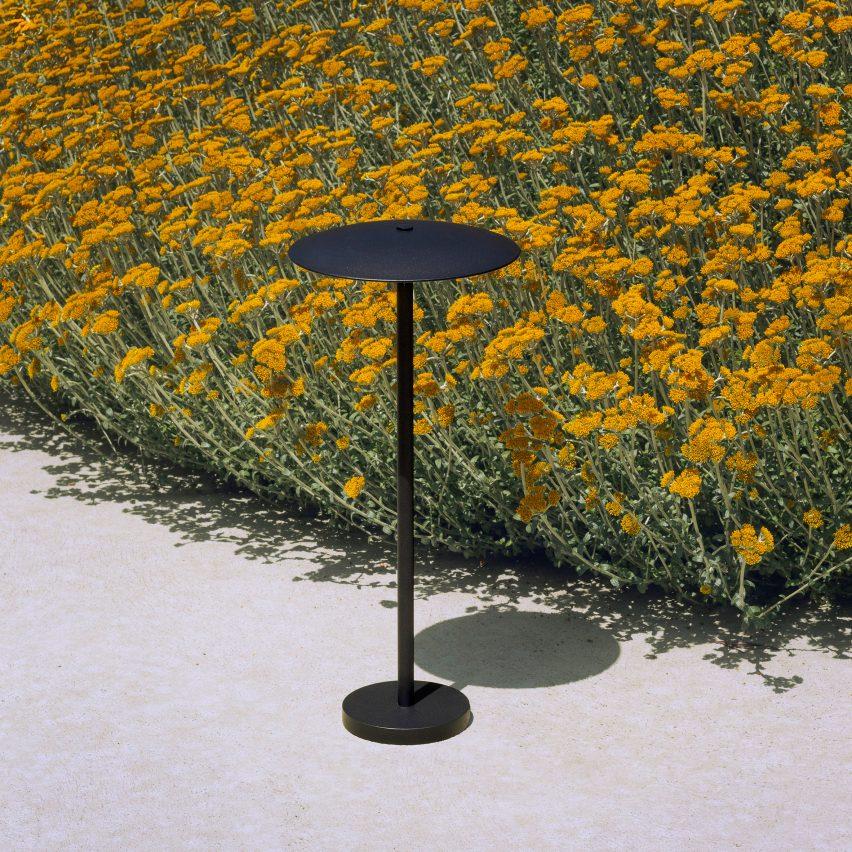 Ginger bollard outdoor light by Joan Gaspar for Marset